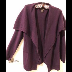 100% Merino wool shawl collar cardigan